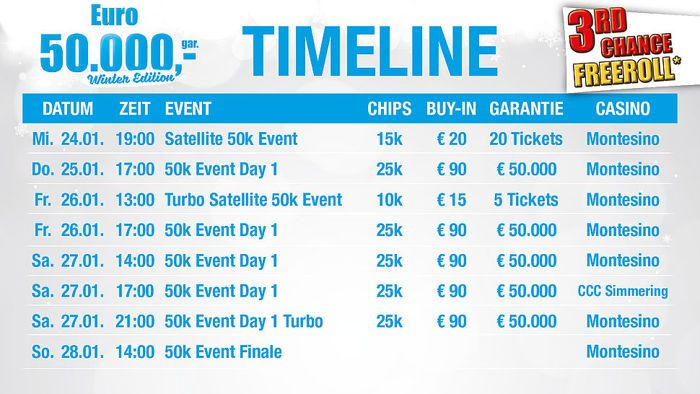 € 50.000 garantiert Winter Edition im Montesino 101