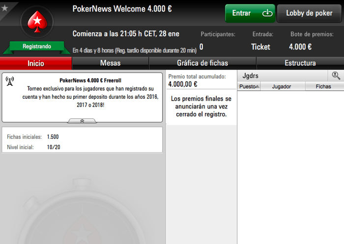¡Vuelven los freerolls de Pokernews en PokerStars con 4.000€! 101