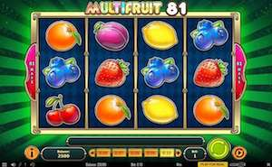 Multi Fruit online slots real money free spins