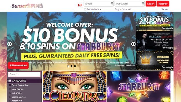 Sunset Spins is one of my favorite brand new online casinos