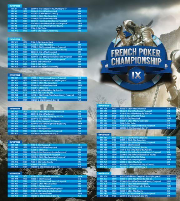 French Poker Championship : Le programme du festival online de PMU 101