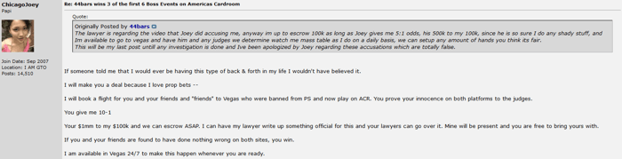 "Joey Ingram: ""Cheating, botting, collusion e superusing na ACR"" 101"
