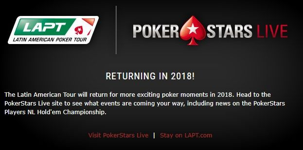 PokerStars annuleert nieuwe stop Latin American Poker Tour (LAPT) in Chili 101