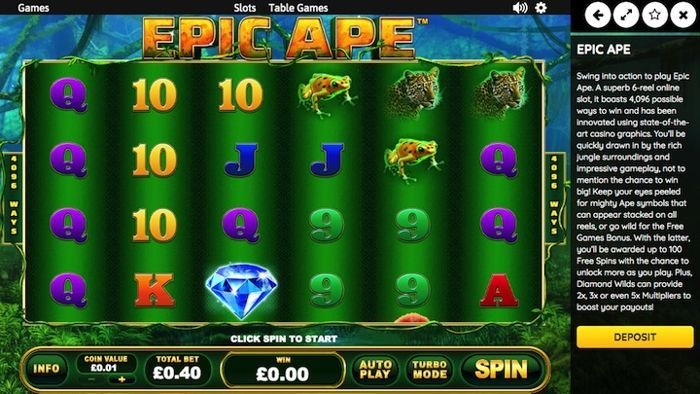 Epic Ape real money casino games for android