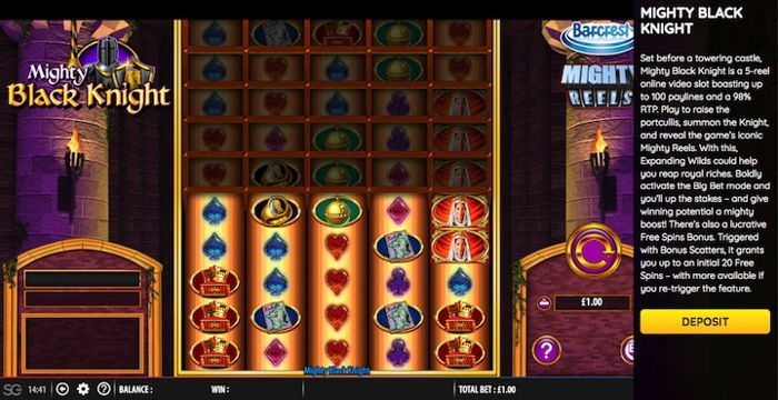 play online casino games for real money Mighty Black Knight slot machine