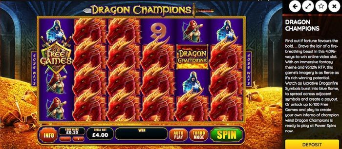 play casino games for free and win real money Dragon Champion