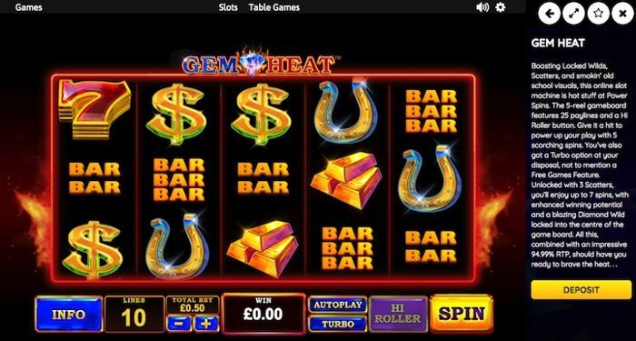 online casino games play for real money Gem Heat
