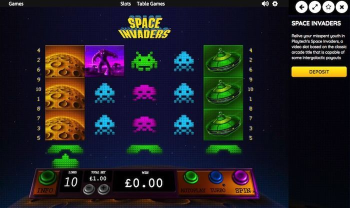 free online casino games for real money Space Invaders Slots 2018