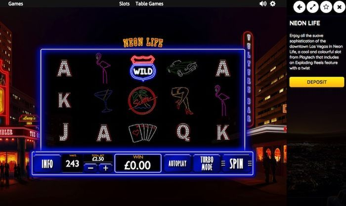 free casino games for real money Neon Life