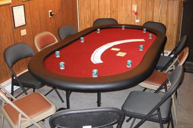 Finished self-built poker table