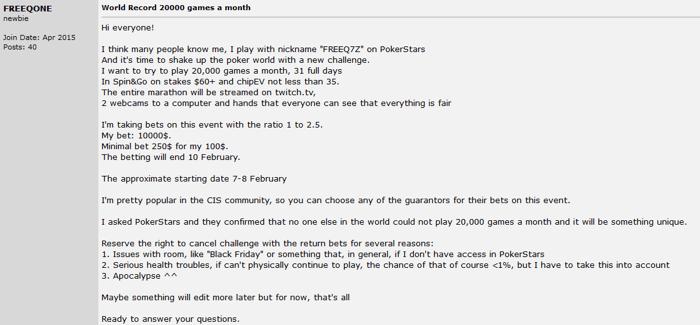 Jogador Russo quer Jogar 20,000 Spin&Gos de 0 e Terminar Positivo 101