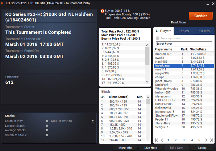 partypoker: Azor_Ahai Crava Thursday Major-HR e ThePuda o KO Series #23-M 103