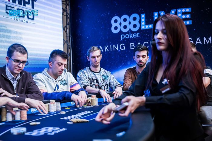 The 888poker qualifiers Sinisa Radovanovic and Krzysztof Chmielowski are 2nd and