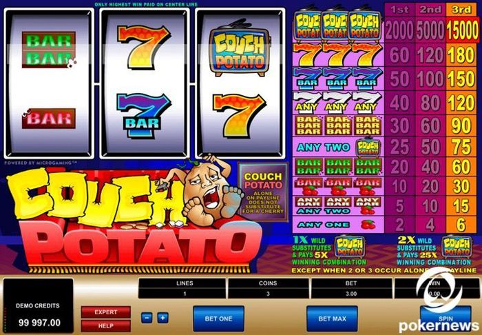 Couch Potato is a great free casino video game to play