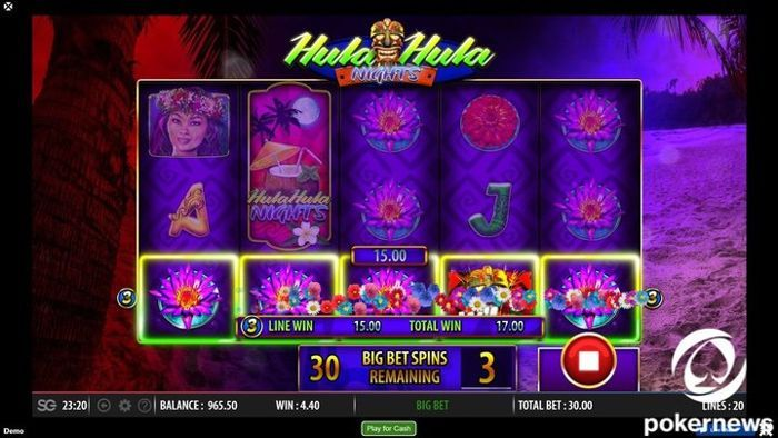 Hula Hula Nights free casino video games for fun