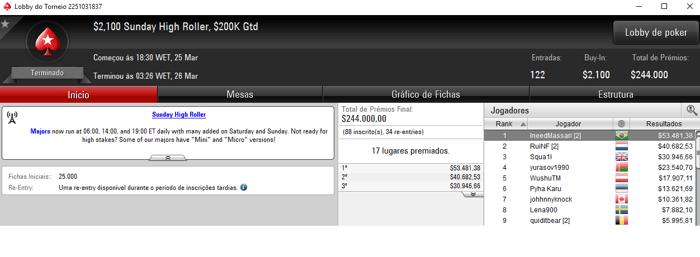 PokerStars: João Simão Crava Sunday High Roller e Embolsa ,481 & Mais 101