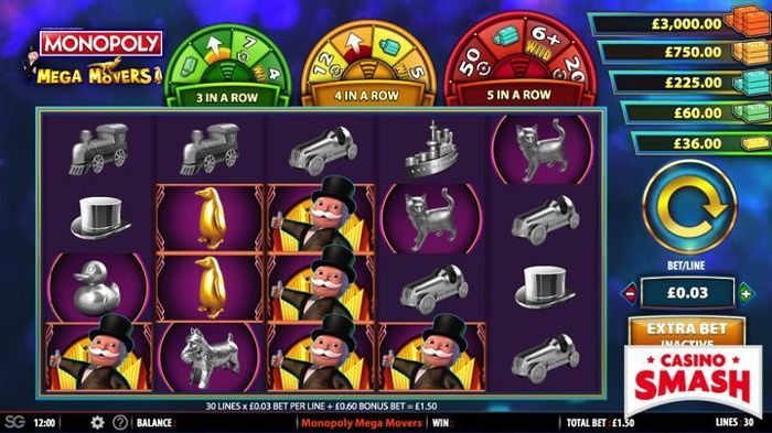 Monopoly Slot Machine Game Mega Movers Online