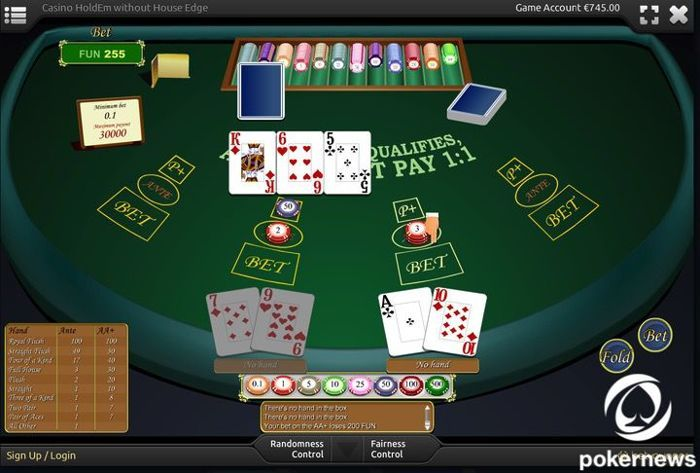 Casino Hold'Em Casino Poker Games to Play for free and with zero house edge