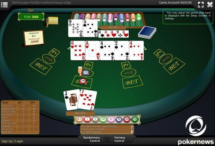 betvoyager Casino Hold'Em Casino Poker Games to Play for free and with zero house edge