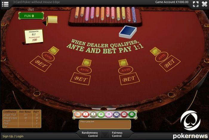 3-card poker Casino Poker Games to Play for free and with zero house edge