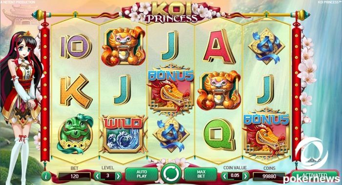 Koi Princess Asian slot machine game