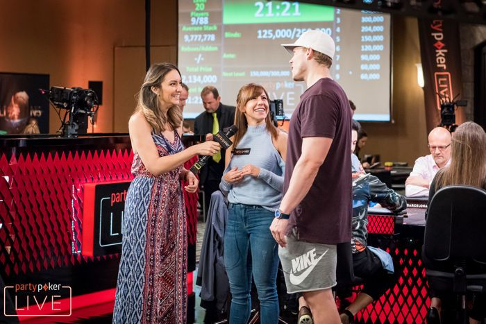 Kristen Bicknell and Alex Foxen at partypoker LIVE MILLIONS Grand Final Barcelona