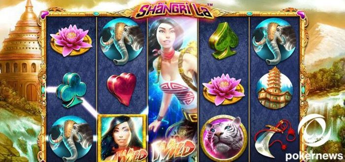 Oriental-themed slot machine