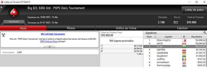 """Fred """"fred_volpe"""" Volpe foi o Melhor na Reta de Ontem do PokerStars 103"""