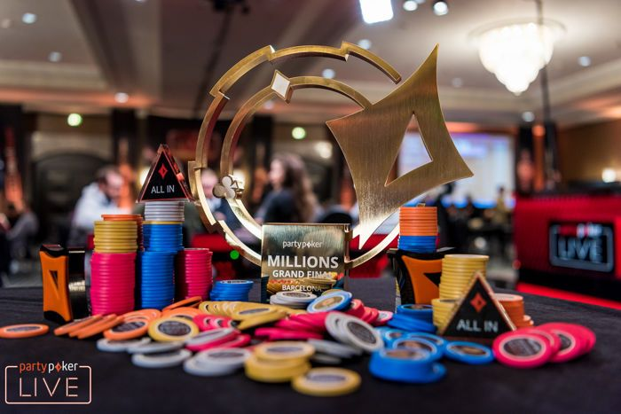 partypoker LIVE MILLIONS Main Event trophy