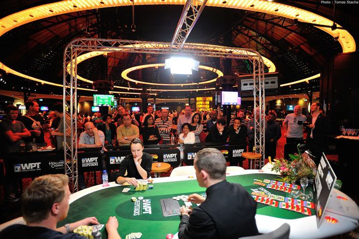 Rens Feenstra and Ema Zajmovic heads-up in the WPT Amsterdam Main Event