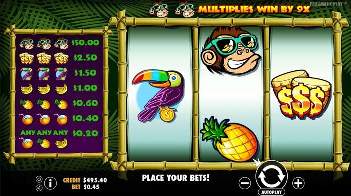 monkey madness fuit slots game