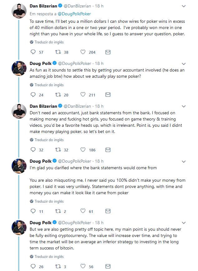 Doug Polk e Dan Bilzerian em Guerra Aberta no Twitter 101