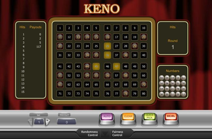 keno no house edge