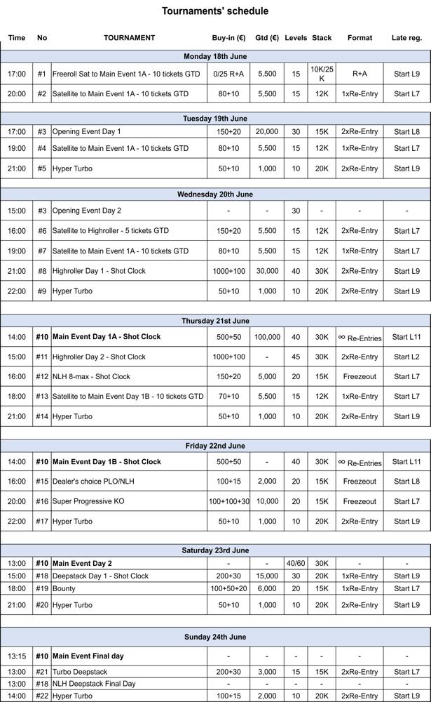Programul 888Live Mamaia: 22 turnee si 231.000€ Gtd intre 18 si 24 iunie 102