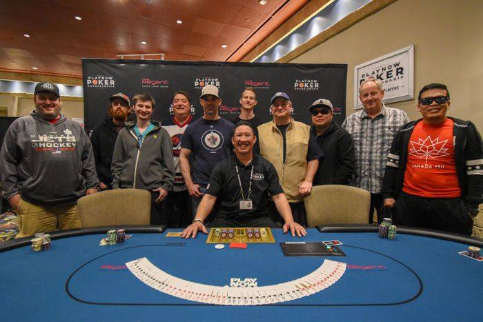 2018 Spring PlayNow Poker Championship Main Event final table