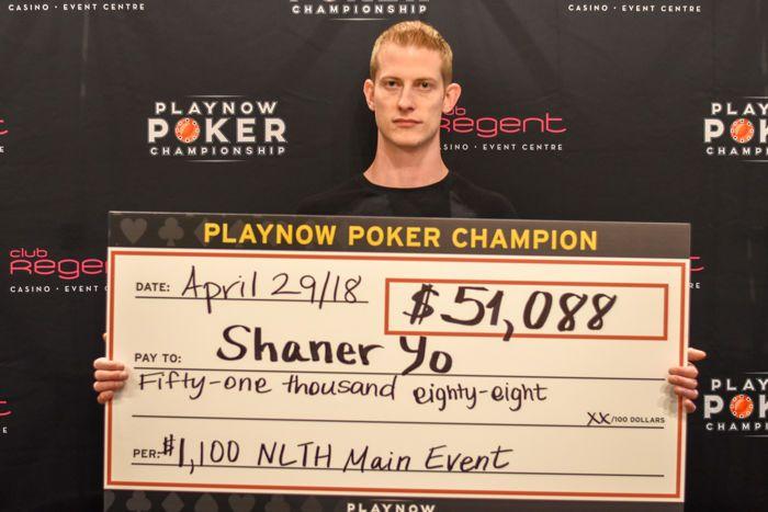 Shaner Yo 2018 Spring PlayNow Poker Championship Main Event