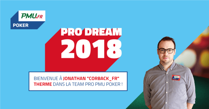 PRODream 2018 : Jonathan Therme décroche le contrat PMU Poker 101