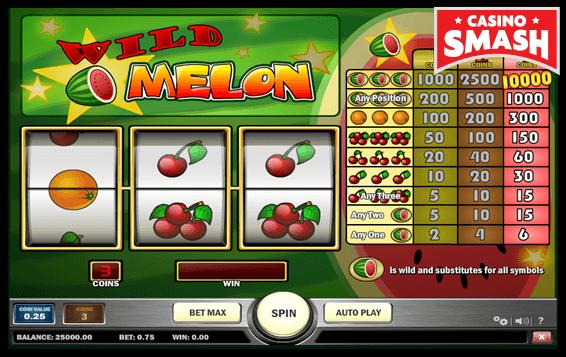 wild melon vegas style slot machines