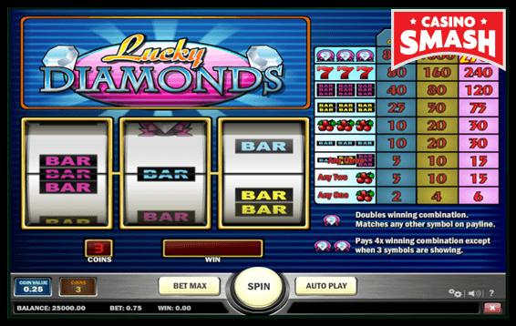 lucky diamonds vegas style slot machines