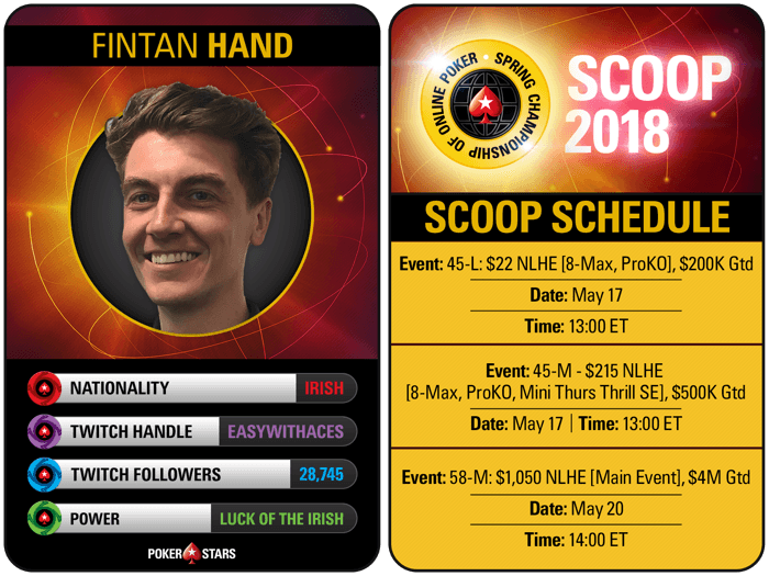 Team PokerStars Online Ben Spragg and Fintan Hand to Stream SCOOP Events 102