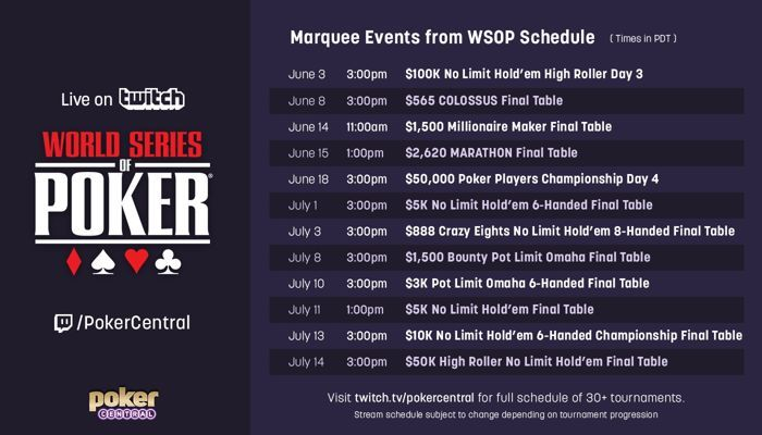 Streaming : 31 tournois World Series Of Poker à déguster sur Twitch gratuitement durant... 101
