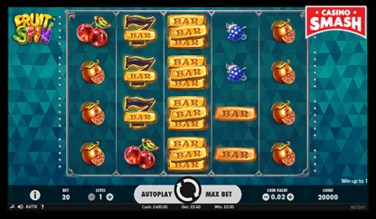fruit spin netent slots