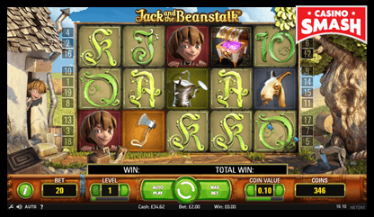 Jack and the Beanstalk netent slots