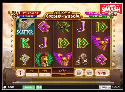 Age of the Gods: Goddess of Wisdom playtech slots