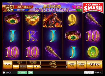 Age of the Gods: Prince of Olympus playtech slots