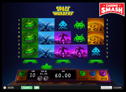 Space Invaders playtech slots