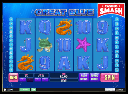 Great Blue playtech slots