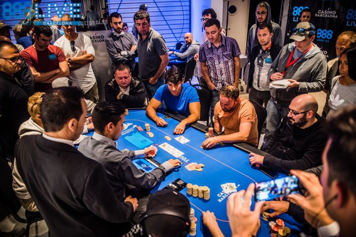 Andrea De Georgio Bubbles the 888poker LIVE Barcelona Main Event