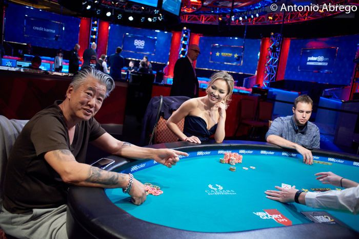 Kate Hoang battling at the final table in WSOP Event #4