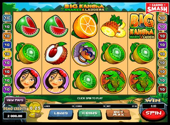 Big Kahuna: Snakes and Ladders Microgaming Slots